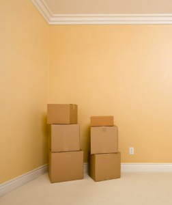 moving boxes in corner or room