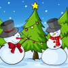 snowmen & christmas trees
