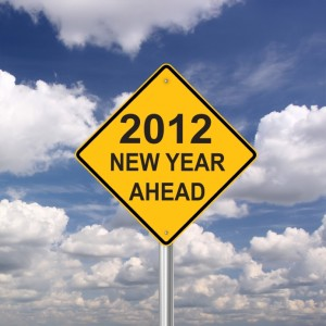 2012 new year sign
