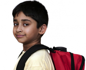 kid with a backpack