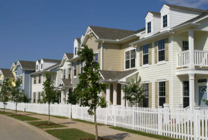 row of town homes