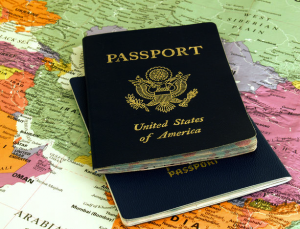 us passports & map