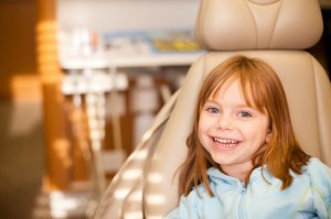 girl in dental chair